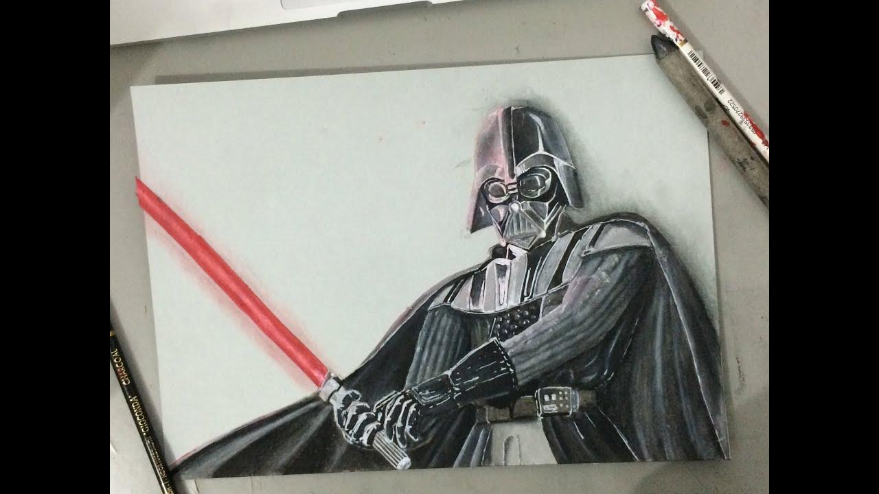 Star Wars Darth Vader Speed Fan Art Drawing Youtube