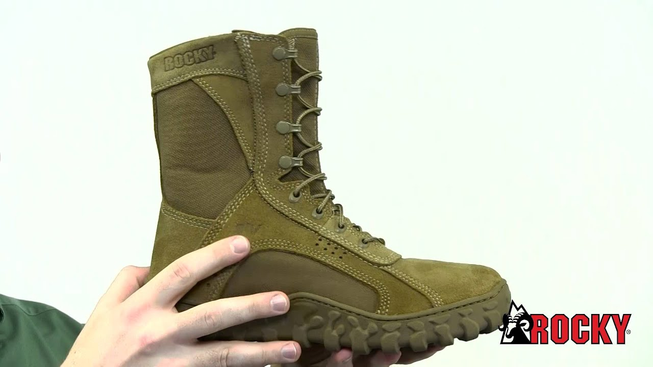 Rocky S2V Steel Toe Tactical Military Boot Style# - RKC053 - YouTube