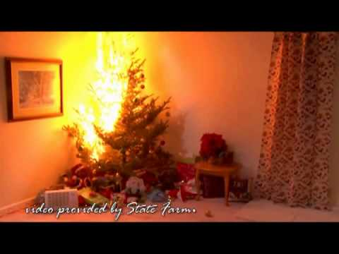 Burning Christmas Tree.Psa Don T Burn Down The Christmas Tree