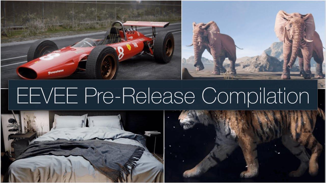 Blender 2.8 EEVEE Pre-Release Compilation!