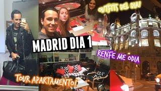 Renfe me ODIA, ¡TOUR POR MI APARTAMENTO! & Outfits del Dia ♡ ¡Madrid Dia 1!