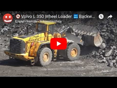 🚳Volvo L 350 Wheel Loader 🔙Backwards FILM-wiellader Nieuwe-Hjullaster