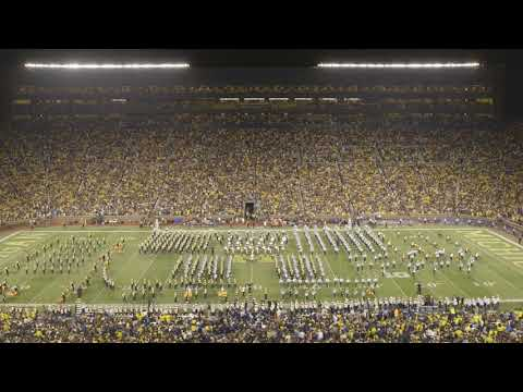 University of Michigan and Spartan Marching Band Combined Halftime Show