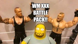 WWE ACTION INSIDER: Brock Lesnar vs Undertaker Mattel Battle Pack series 30 Wrestling Figures!