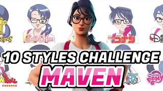 Fortnite 10 Art Styles How to Draw MAVEN  Speed Paint  Fortnite Skin   Procreate