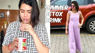 SUMMER DETOX DRINK for weight loss , get rid of bloating and cleanse body