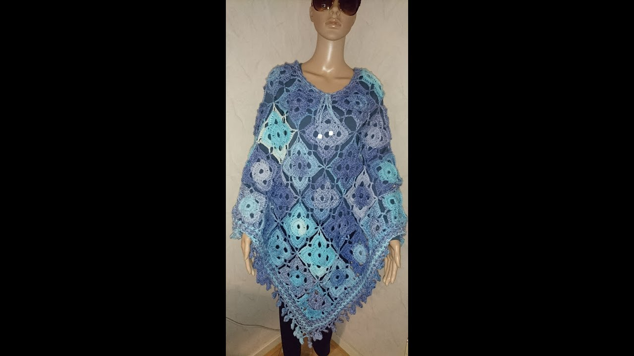 Siems Little Square Poncho Haken Tutorial Nederlands Youtube