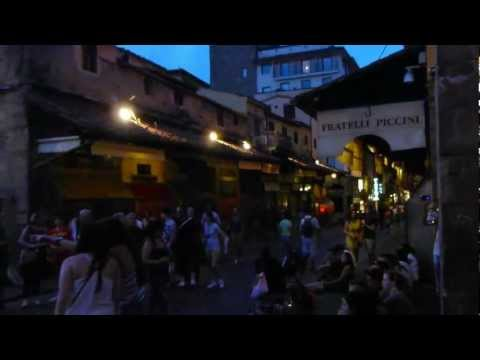 Live Italian Music on Ponte Vecchio during The Festival of Saint John the Baptist in Florence, Italy