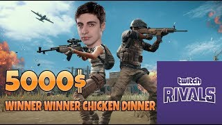 Shroud WON Twitch Rivals PUBG NA TOURNAMENT /w just9n - FULL SHROUD STREAM