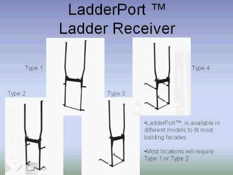 how to use a roof ladder youtube