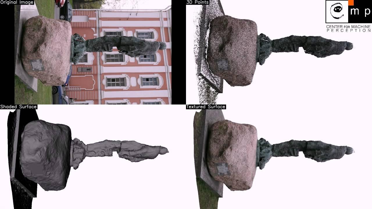 VisualSfM + CMPMVS : Automatic 3D reconstruction Agisoft Monument dataset  (32 images)