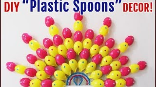 DIY Handmade Crafts from Plastic Spoons | DIY Room Decor from Best Out of Waste