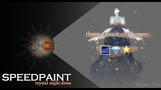 three emojis challenge: design costume(crystal night dress) speedpaint | Sontse
