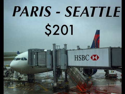 $201 TRANSATLANTIC FLIGHT?!| Paris - Seattle| Delta a330-200| Economy Review.