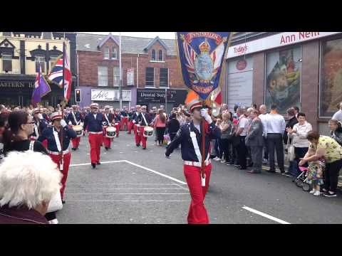 Enniskillin Fusiliers@ 36th Ulster Division review