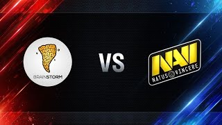 Brain Storm vs Natus Vincere - play-off Season I Gold Series WGL RU 2016/17