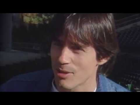 Jackson Browne before a concert in late 80's.