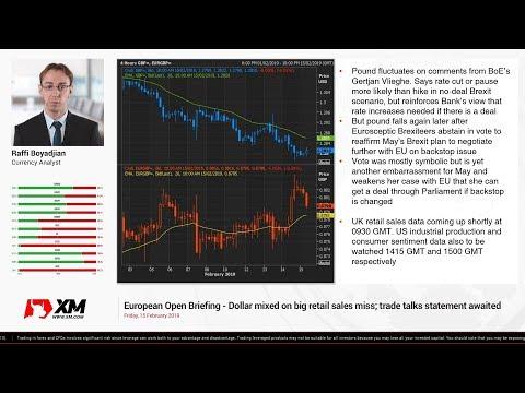 Forex News: 15/02/2019 - Dollar mixed on big retail sales miss; trade talks statement awaited