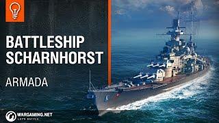 Video World of Warships - Armada: Scharnhorst download MP3, 3GP, MP4, WEBM, AVI, FLV September 2017