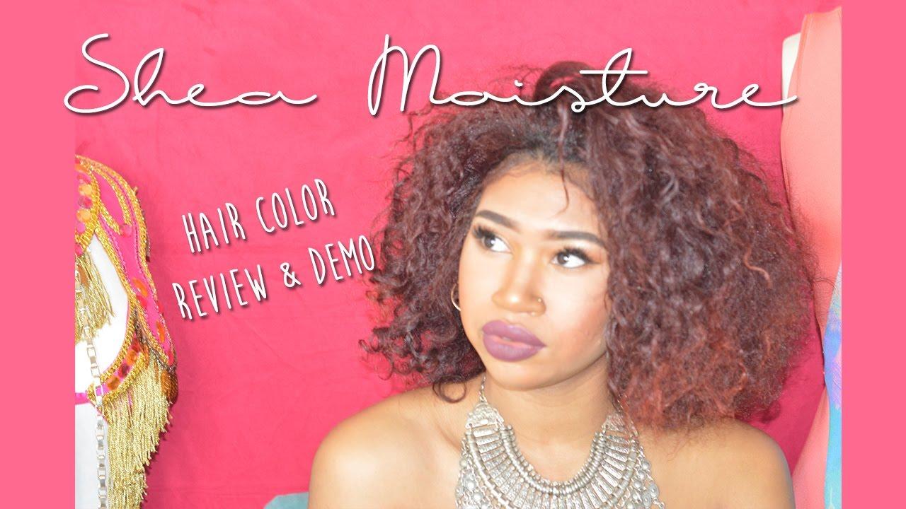 Shea Moisture Hair Color Bright Auburn Reviewdemo Youtube