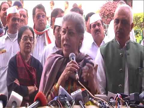 Smt. Ambika Soni on Rahul Gandhi filing nomination for the post of Congress President