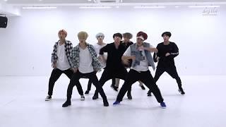 Корейские парни круто танцуют (BTS  'DNA' Dance Practice)