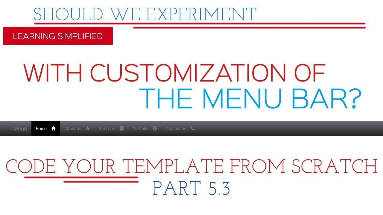 Code Template From Scratch Bootstrap Navbar Css Customization
