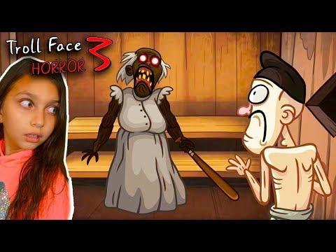 НОВАЯ ГРЕННИ и ВСЕ СТРАШИЛКИ в Troll Face Quest Horror 3! ТРОЛЛИМ Granny, SCP СЦП Валеришка