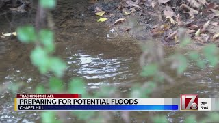 Chapel Hill areas flooded in Florence preparing for Michael