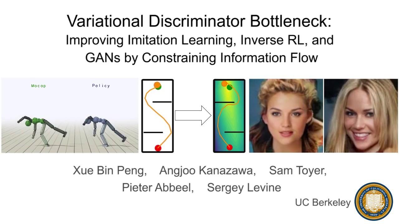 Variational Discriminator Bottleneck: Improving Imitation Learning