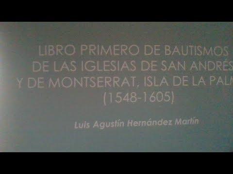 Presentación libro de los primeros bautismos Iglesias de San Andrés y Sauces