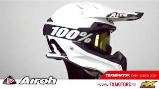 Airoh Terminator Open Vision Blanc 2018