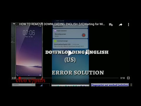 HOW TO REMOVE DOWNLOADING ENGLISH (US)Waiting For Wifi Notification VIVO And Oppo