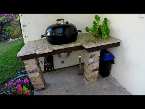 How to Build a Granite Grill Side Table