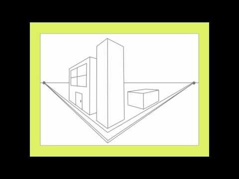 2-point perspective city drawing tutorial