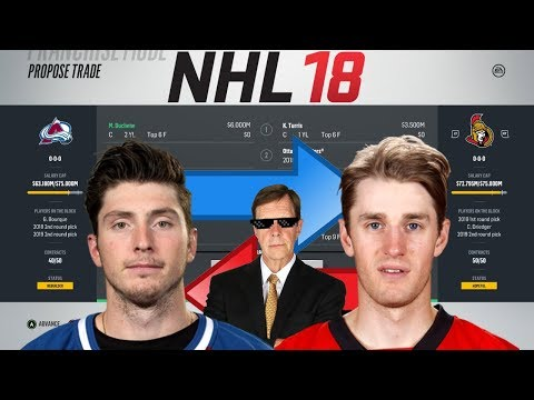 NHL 18 - DUCHENE FOR TURRIS 3 WAY TRADE SIMULATION