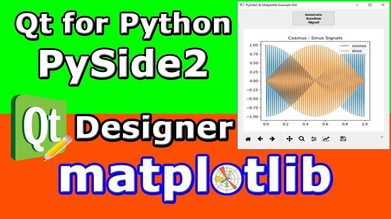 PySide2 (Qt for Python) Matplotlib Qt Designer