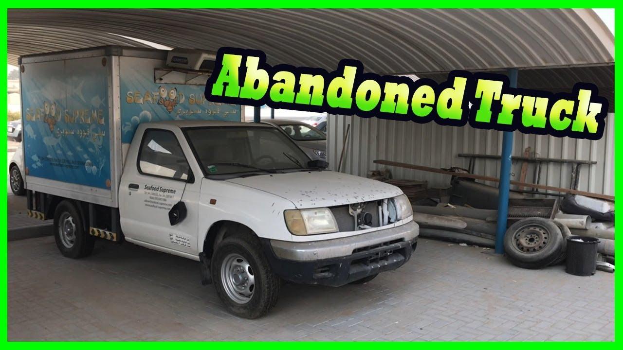 Abandoned Truck in Dubai 2017. Exploring Abandoned Vehicle in Dubai, UAE. Dubai Abandoned Car
