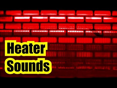 """🎧 HEATER SOUNDS of Electronic Quartz Heater =  Humming Noise """"BLACK SCREEN"""" reddy heater study aid"""