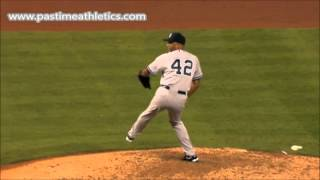 Mariano Rivera Cutter Slow Motion Pitching Mechanics - Best Baseball Pitch of ALL TIME