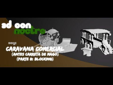 3D Carro y Assets Handpainted (Parte 8: Blocking)