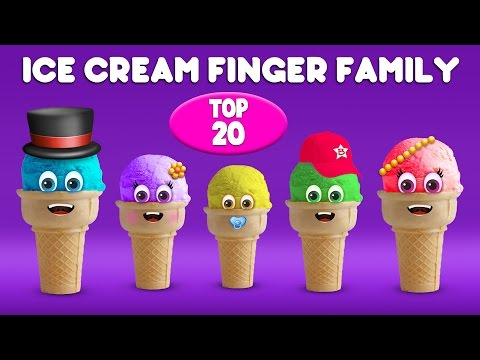 Thumbnail: Ice Cream Finger Family Song | Top 20 Finger Family Songs | Daddy Finger Rhyme