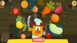 Смешарики  Кулинария Полное Прохождение Мультфильм Игра Для Детей