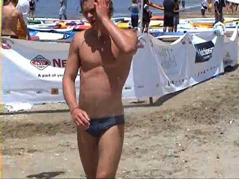 Sexy Boy Running Speedo Beach Athletic Muscle Sexy