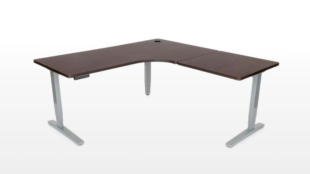 UPLIFT Height Adjustable Standing Desk with L-Shape Top