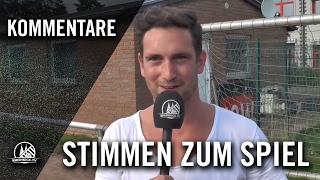 Die Stimmen zum Spiel (SV Blatzheim - Horremer SV, Kreisliga B, Staffel 2, Kreis Rhein-Erft)