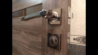 Установка ручки на межкомнатную дверь #2. Подробно.