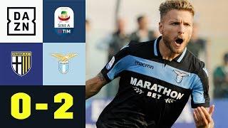 Ciro Immobile bringt Lazio spät auf die Siegerstraße | Parma A.C. - Lazio Rom 0:2 | DAZN Highlights