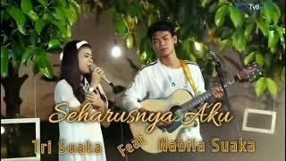 Download Seharusnya Aku - Maulana Wijaya cover Nabila feat Tri Suaka