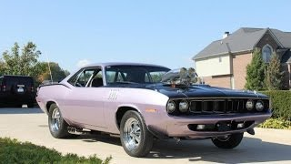 1971 Plymouth Cuda Test Drive Classic Muscle Car for Sale in MI Vanguard Motor Sales